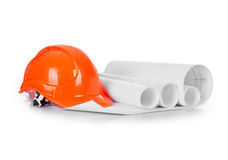 Construction helmet with drawings Royalty Free Stock Photos