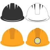 Construction helmet. Flat design,  illustration Stock Images