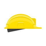 Construction helmet icon. Builder hard hat sign isolated on white background. Helmet in modern flat style. Concept safety in building work. Vector illustration Royalty Free Stock Image