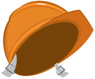 Construction helmet. Isolated. Vector cartoon Royalty Free Stock Images