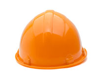 Construction helmet, rear view stock image