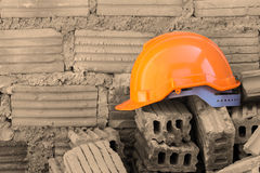 Construction helmet safety for protect worker Royalty Free Stock Photos