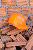 Construction helmet safety for protect worker Royalty Free Stock Photography