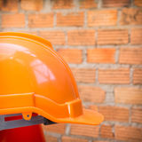 Construction helmet safety for protect worker Royalty Free Stock Images