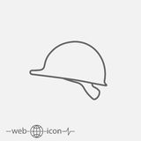 Construction helmet vector icon Stock Image