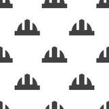 Construction helmet, vector seamless pattern Royalty Free Stock Photo