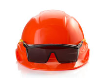 Construction helmet on white background Royalty Free Stock Images