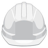 Construction helmet. White construction helmet front view Royalty Free Stock Photography