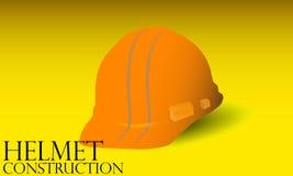 Construction helmet. Yellow construction helmet from construction company Royalty Free Stock Photo