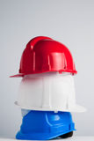 Construction helmets Stock Image