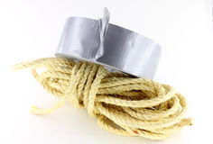 Construction hemp rope Stock Image