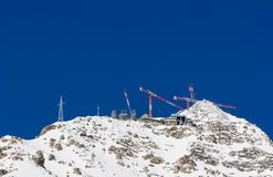 Construction at high altitude Stock Photography