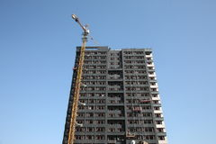 Construction of a high building Royalty Free Stock Images