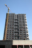 Construction of a high building Royalty Free Stock Image