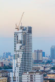Construction high building in central of Bangkok Royalty Free Stock Image
