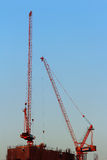 The construction of high buildings in the city. Royalty Free Stock Images