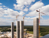 Construction of high industrial facility Stock Photography