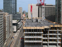 Construction of high rise Stock Image