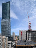 Construction of high rise apartment building Royalty Free Stock Photo
