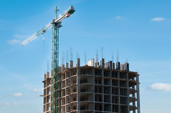 Construction of high-rise buildings. Stock Image