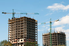Construction of high-rise buildings. Royalty Free Stock Photos