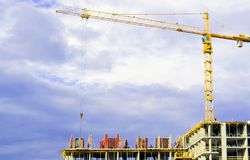 Construction of high-rise buildings. royalty free stock image