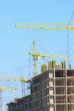 Construction of high-rise buildings Stock Photography