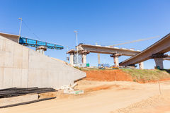 Construction Highway Ramps Stock Photo