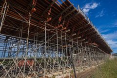 Construction Highway Scaffolding Ramp Stock Image