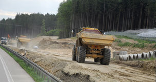Construction of highways Stock Photography