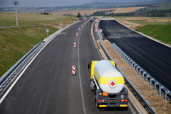 Construction of highways in Slovakia Royalty Free Stock Photo