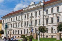 Construction historique à Pecs, Hongrie Photos libres de droits