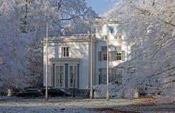 Construction historique dans la neige Photo libre de droits