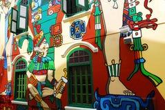 Construction historique dans le regard neuf à Singapour Photos libres de droits