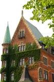 Construction historique dans le Speicherstadt à Hambourg Photographie stock libre de droits