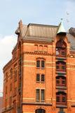 Construction historique dans le Speicherstadt à Hambourg Image libre de droits
