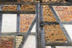 Construction historique de structure de bois en détail Photographie stock libre de droits