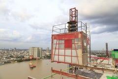Construction hoist lifting Stock Image