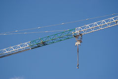 Construction hoisting crane boom part Royalty Free Stock Photo