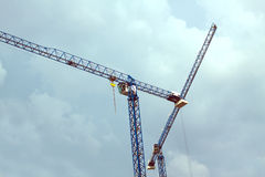 Construction hoisting tower cranes Royalty Free Stock Photos