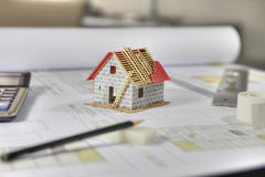 Construction home Royalty Free Stock Image