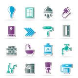 Construction and home renovation icons Royalty Free Stock Image