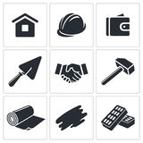 Construction and home repair icon collection Royalty Free Stock Photo
