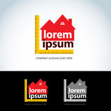 Construction homes logo template. Home builder logotype. House abstract icon. Vector format. Stock Image