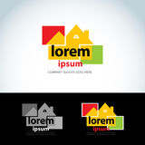 Construction homes logo template. Home builder logotype. House abstract icon. Vector format. Stock Photography