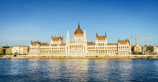 Construction hongroise du parlement à Budapest Photos libres de droits