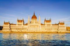 Construction hongroise du parlement à Budapest Image libre de droits