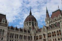 Construction hongroise du parlement à Budapest image stock