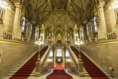 Construction hongroise du parlement à Budapest Images libres de droits