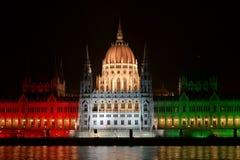 Construction hongroise du Parlement Images libres de droits